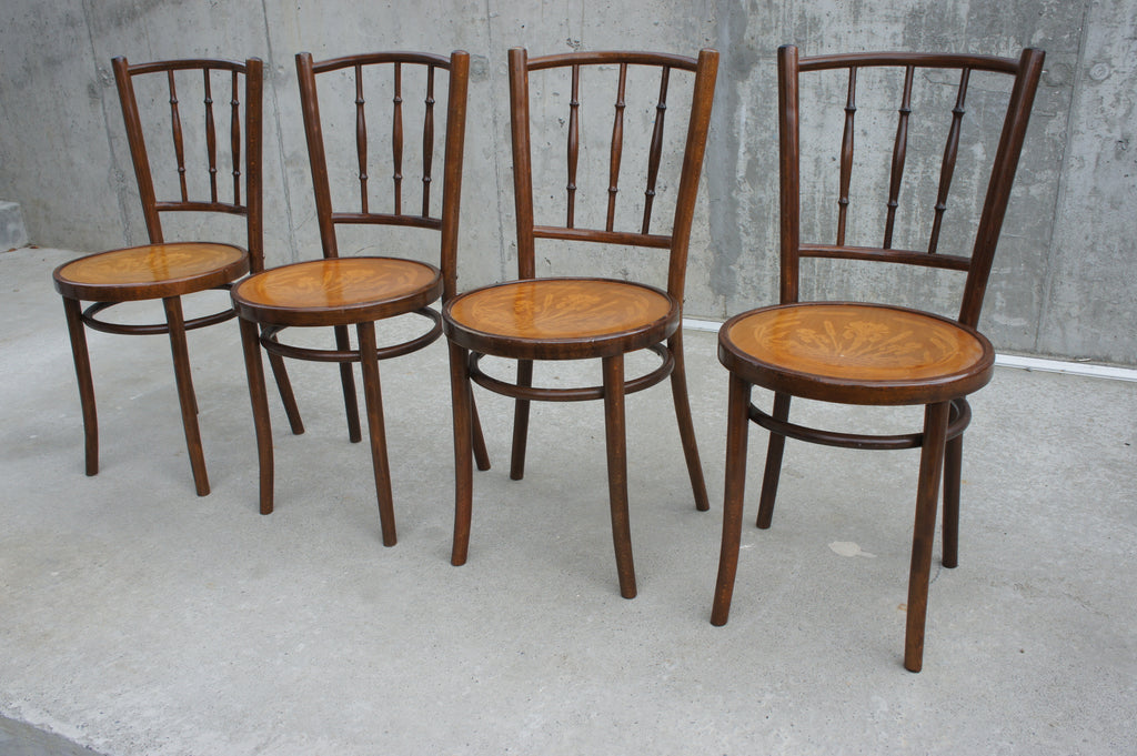 Set of 4 Bentwood French Bistro Chairs