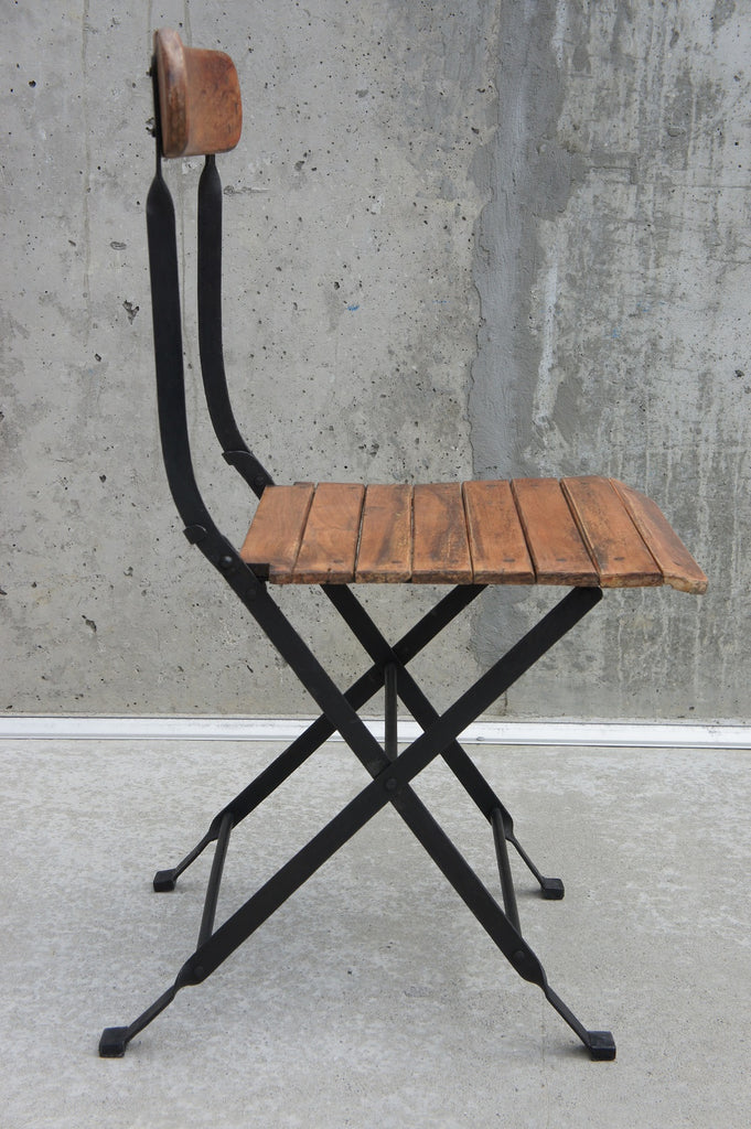 Folding Bistro Chairs Set Of 4 Vintage French