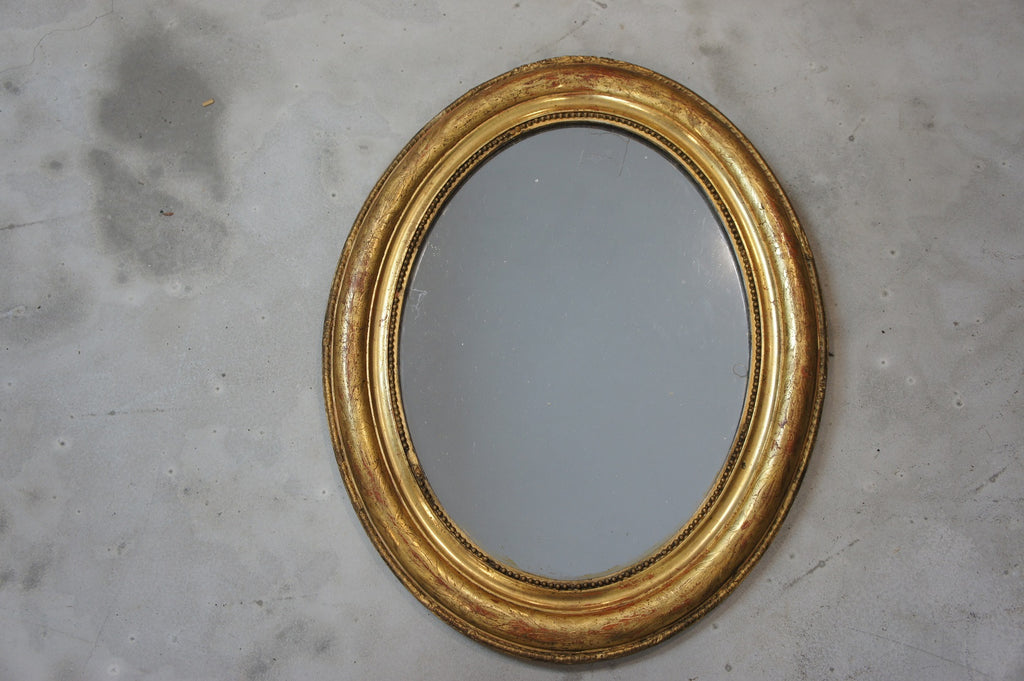 Small Oval Gilt Mirror
