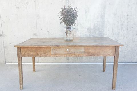 158.5cm Rustic Farmhouse Tapered Leg, Original Paint, Kitchen Table Desk