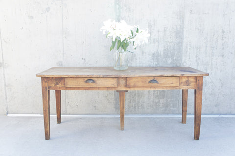 177.75cm Farmhouse Console Dining Table Desk