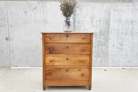 1880's Walnut Wood Chest of Drawers