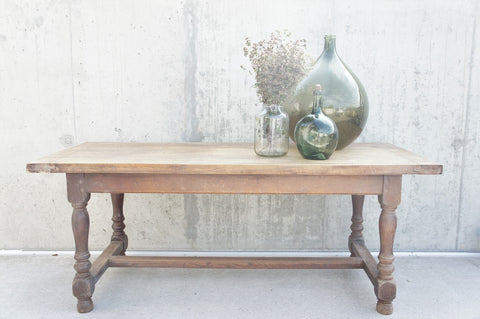 190.5cm Vintage French Oak Refectory Farmhouse Dining Table (approx 8 person)