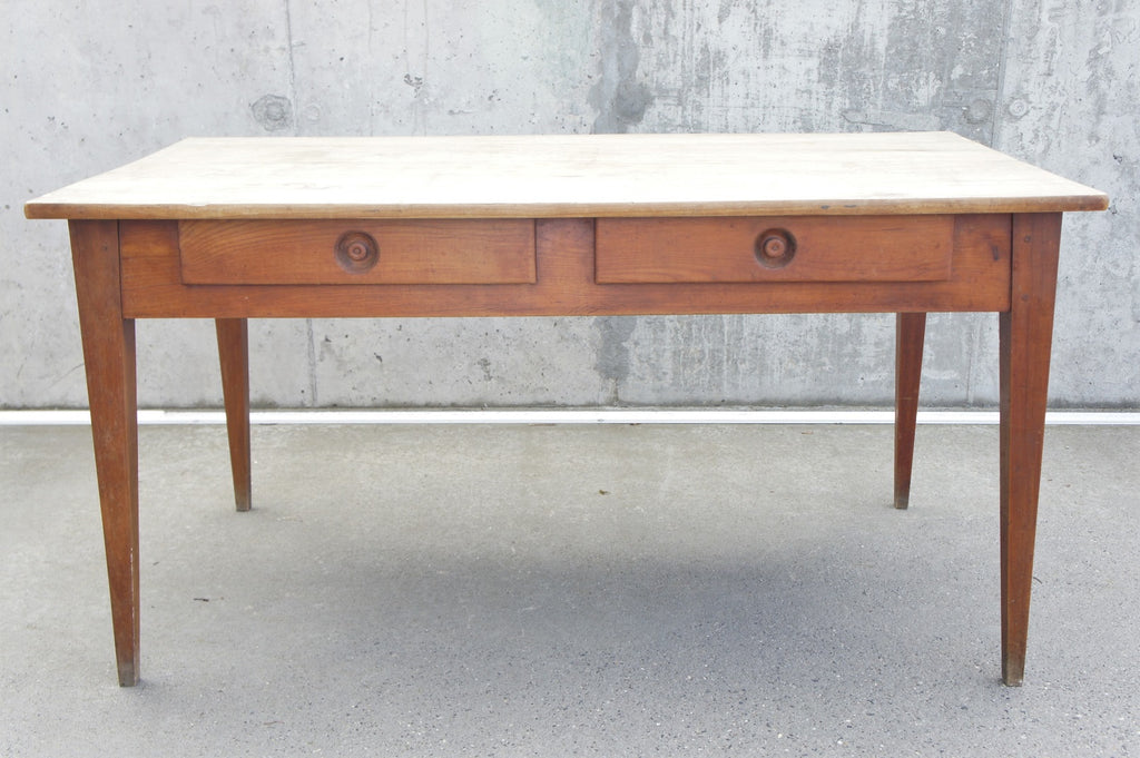 Farmhouse Cherry Wood Dining Table Desk