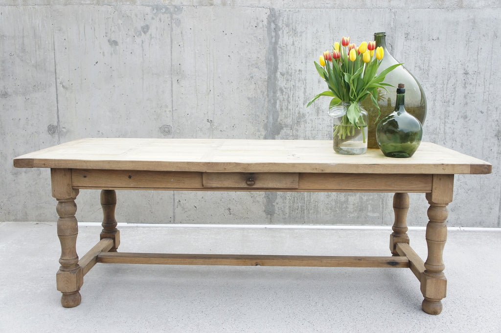 2.18m Oak Farmhouse Refectory Dining Table