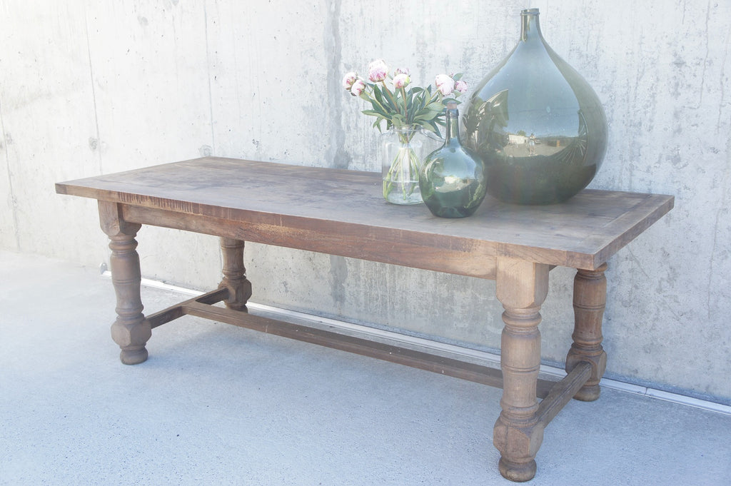 219.5cm Oak Farmhouse Refectory Dining Table