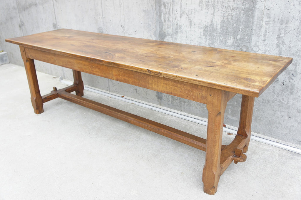 Wandplank 250 Cm.250cm Oak Farmhouse Refectory Table Vintage French