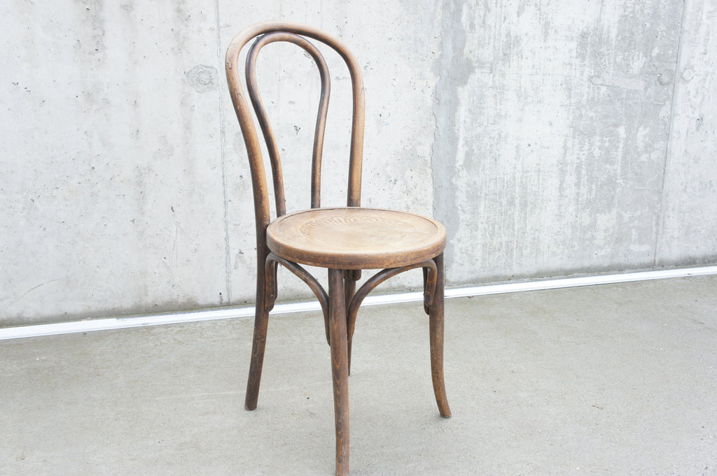 Three Individual Bentwood French Bistro Dining Chairs