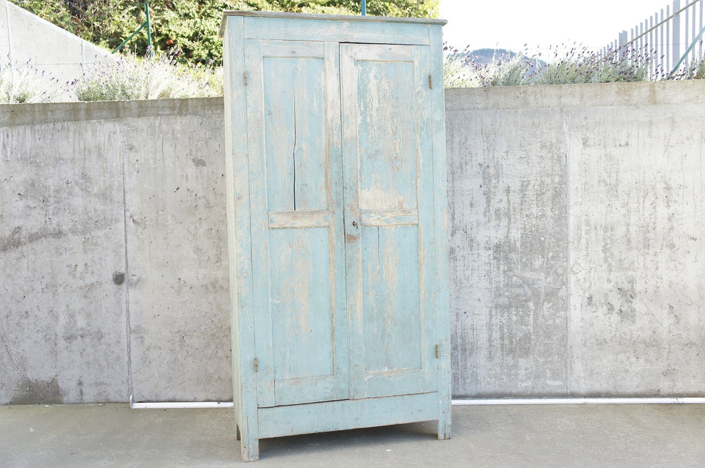 Cupboard With Original Duck Egg Blue Paint