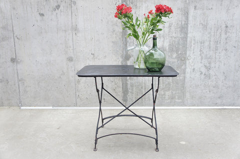 Black Metal Rectangular Folding Garden Table