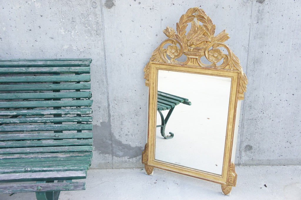 Gold Leaf 'Bird' Decorative Mirror