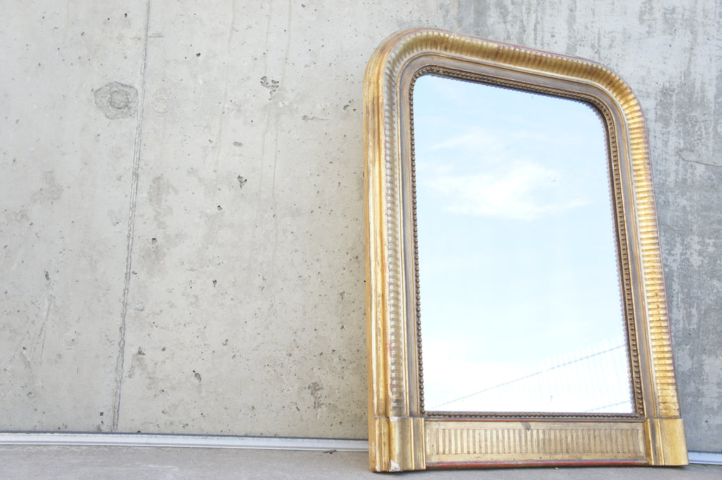 Gold Leaf Plaster Frame Louis Philippe Mirror