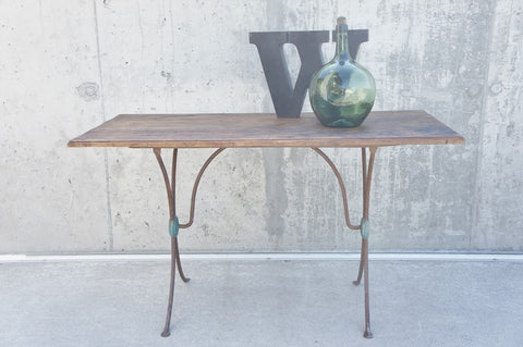 120cm Metal and Wooden French Bistro Table Desk