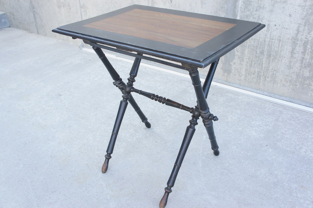 Napoleon III Ebonized Pear Wood Folding Table