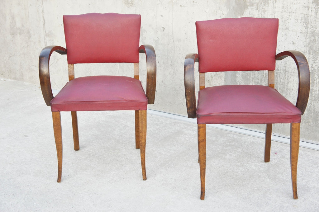 Mid Century Moustache Back Bridge Chairs Ready to Reupholster