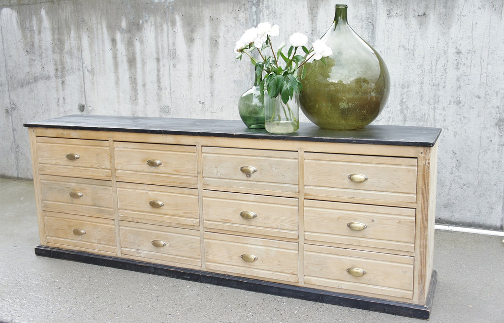Pharmacy Shop Counter Sideboard 12 Drawers