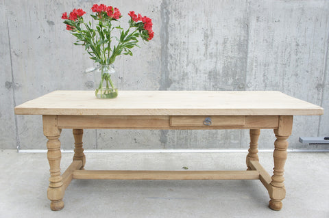 202cm Rustic Oak Farmhouse Refectory Table