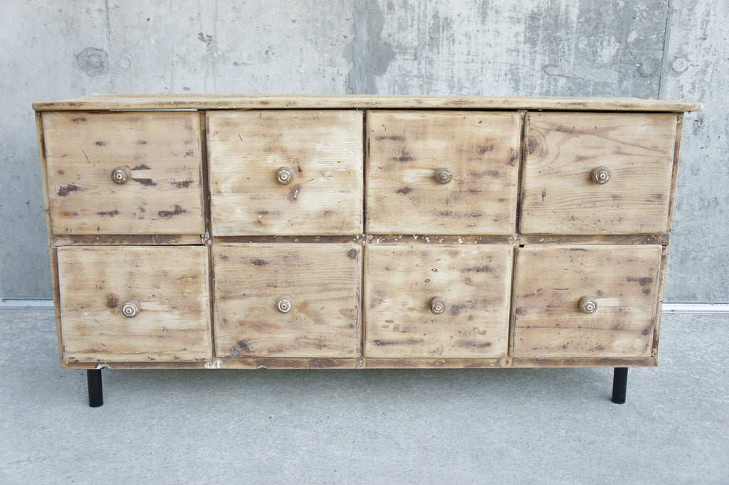 Low Solid Pine Rustic Drawers