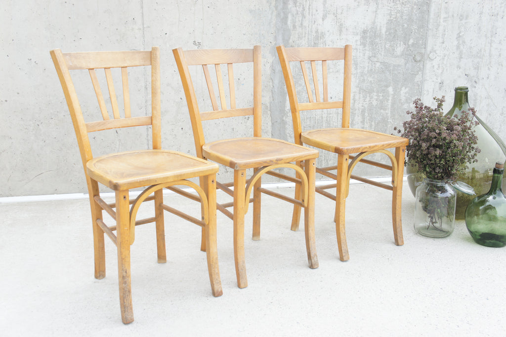 Set of 3 Mid Century Luterma Church Bistro Chairs