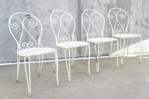 Set of 4 Metal Garden Chairs