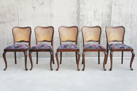 Set of 6 Cane Backed Dining Chairs to Reupholster
