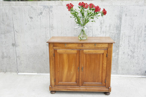 Small Walnut Wood Cupboard Sideboard Buffet