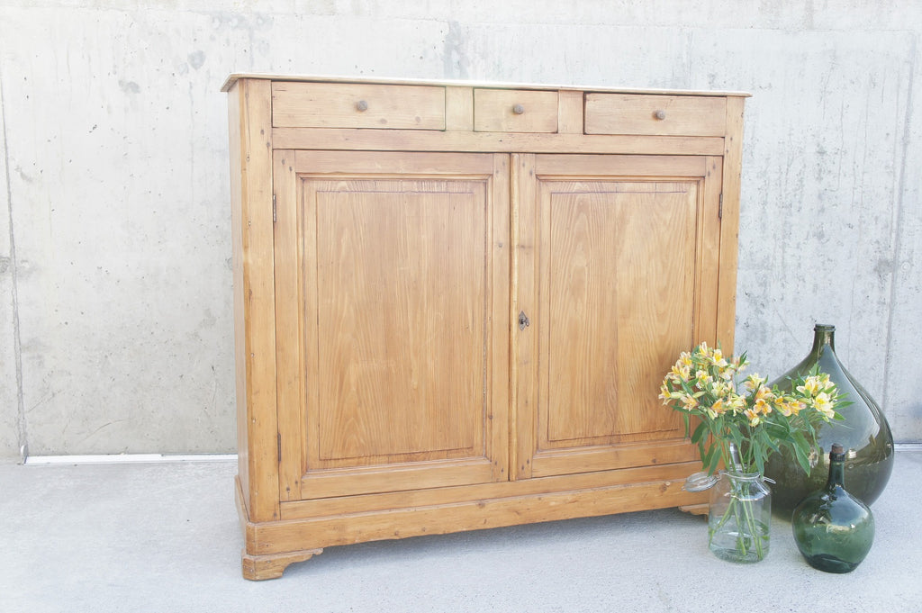 Solid Pine Cupboard with Drawers
