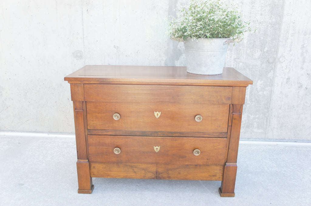 Small Walnut Wood Chest of Drawers