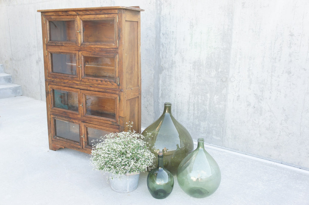 Glass Front and Wood Confiture Cupboard
