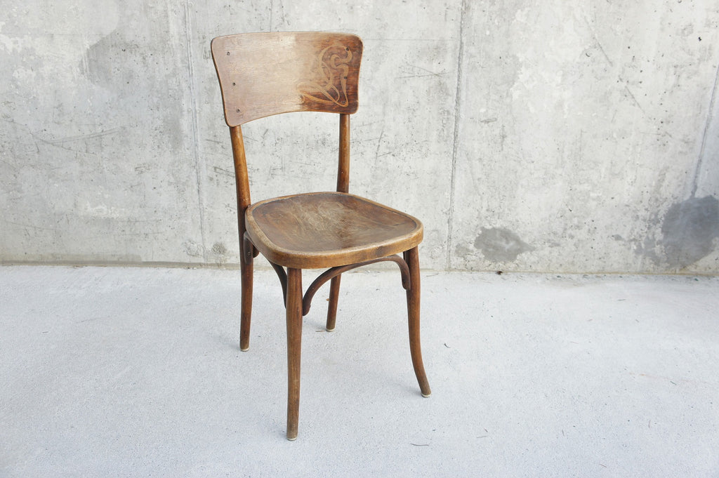 Individual Embossed Thonet Bentwood French Bistro Chair