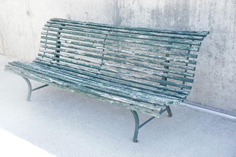 Green 'Parisian' Garden Bench