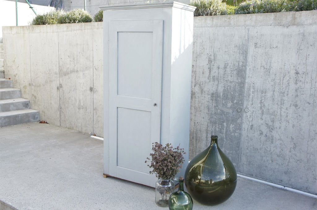 Pine, Original Grey Paint, Free Standing, Cupboard