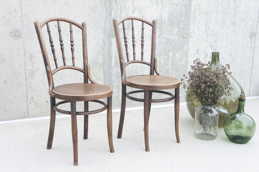 Pair of 19th Century French Bentwood Bistro Chairs