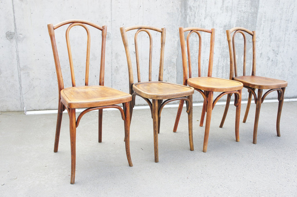 Set of Four Bentwood French Bistro Chairs