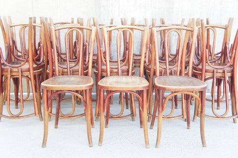 Set of 25 French Bentwood Fischel Bistro Dining Chairs