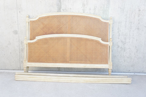 156.5cm Wide Shabby Chic Cane Bed Frame