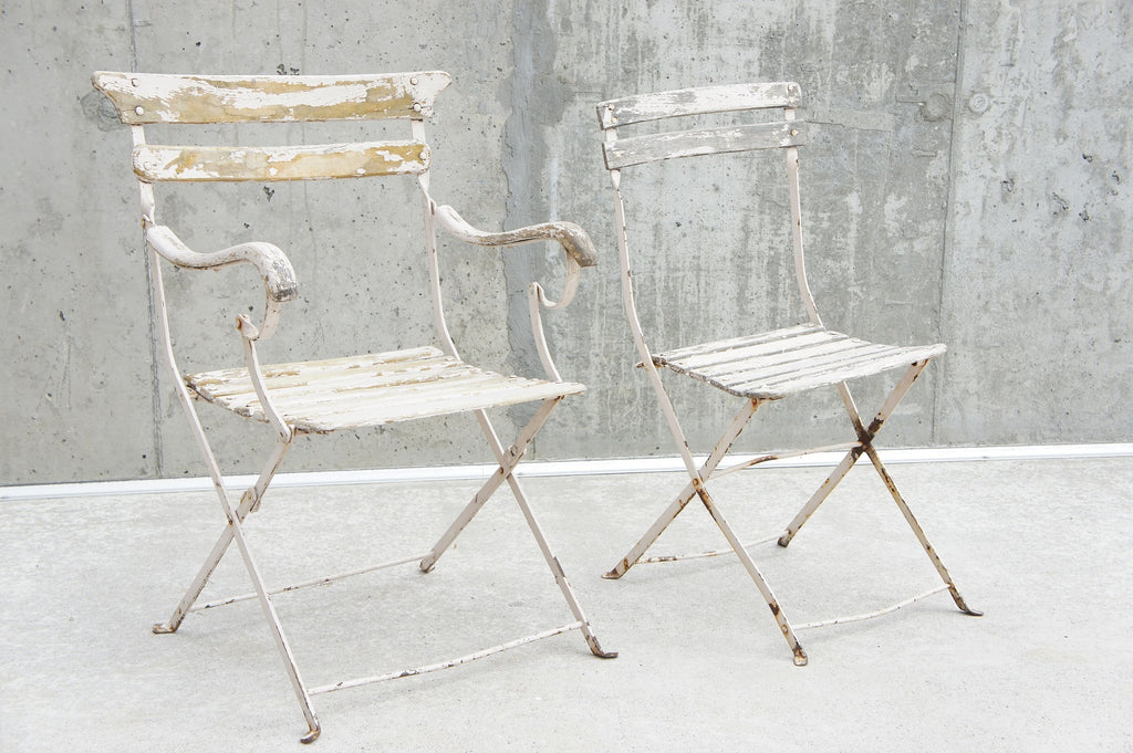 Two 'Shabby Chic' Garden Chairs