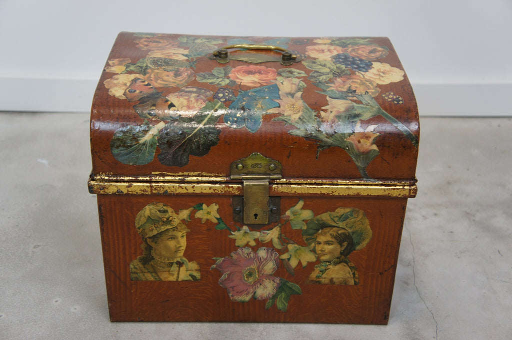 Decoupage Tin Chest