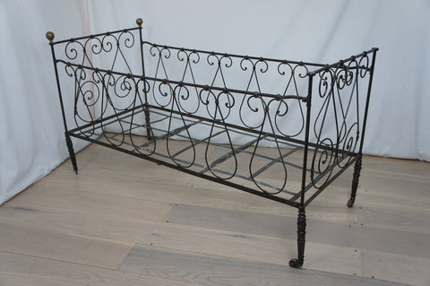 Wrought Iron Cot / Day Bed