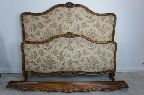 Louis XV Style Upholstered Bed Frame