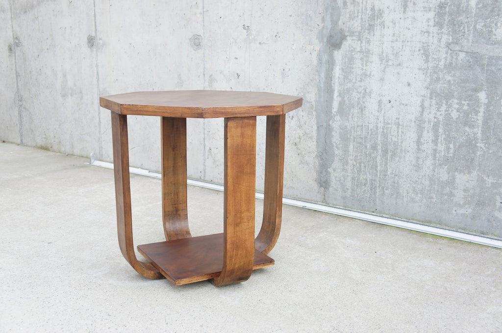 Octagonal Art Deco Gueridon Side Table