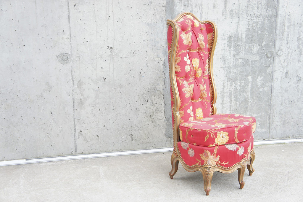 Individual Straight Backed Corbeille Bedroom Hallway Chair to reupholster