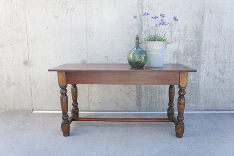 151cm Wild Cherry Wood Farmhouse Dining Table Desk