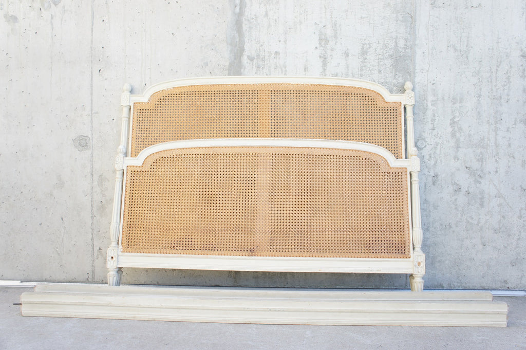 148.25cm Wide Shabby Chic Cane Bed Frame