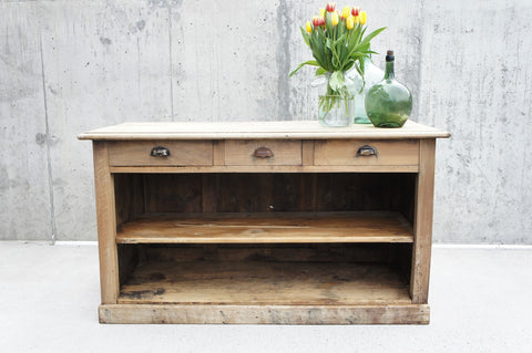 161cm Shop Counter Sideboard Open Shelves and Drawers