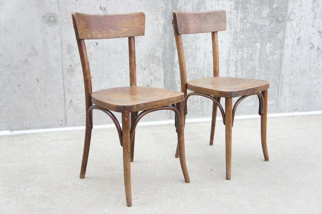 Pair of Thonet Bentwood French Bistro Chairs