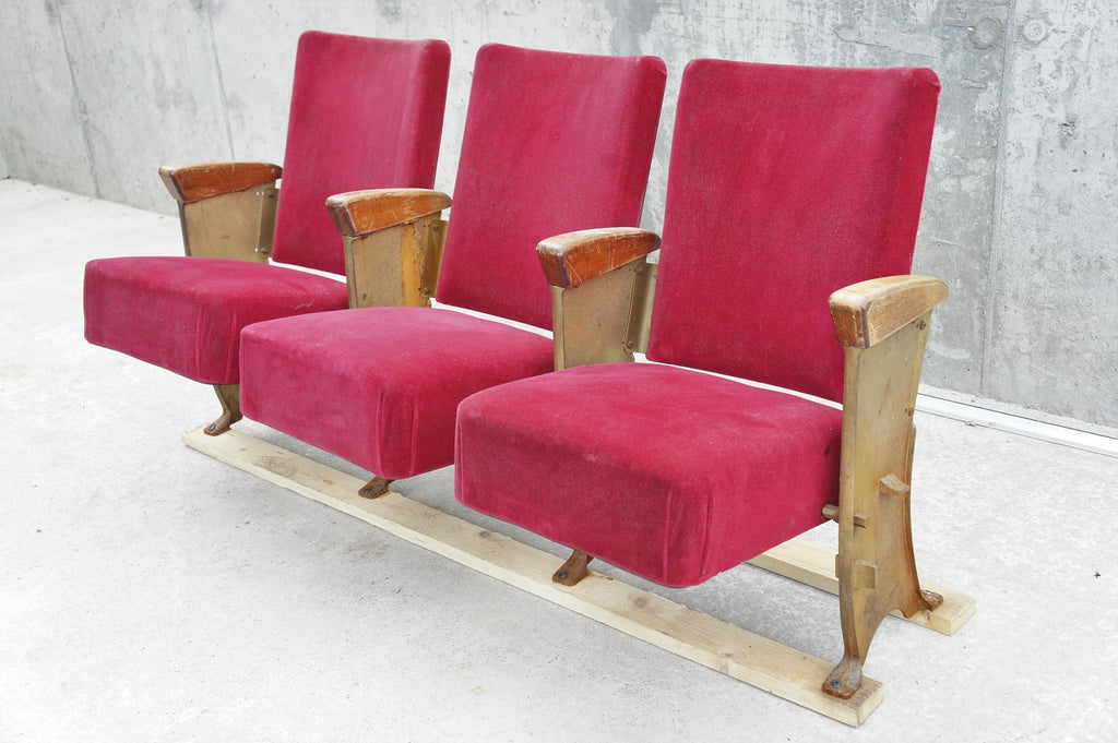 Velvet Upholstered Cinema Seats (3)