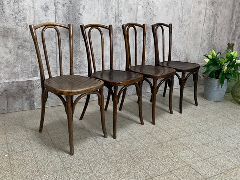 Set of Four Fischel Bentwood Bistro Chairs