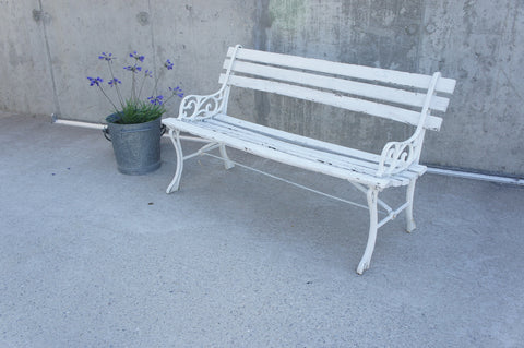 Small Decorative French Garden Bench