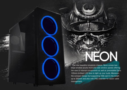 RAIDMAX NEON RGB MICRO TOWER - I5 2400 - 8GB DDR3 - 500GB HDD